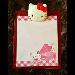Hello Kitty red and wh plastic note pad board set